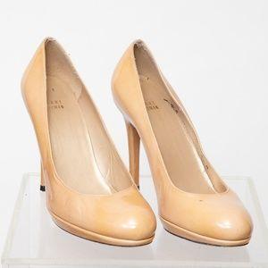 Stuart Weitzman Nude Patent leather Heel Size 8.5